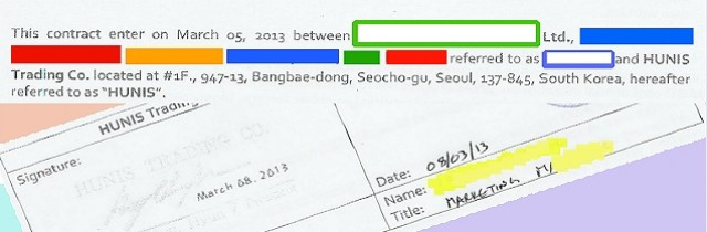 Korean SEM Contract Sheet