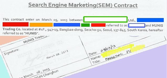Korean SEM Contract Sheet