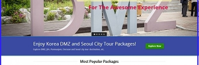dmz tour agency homepage