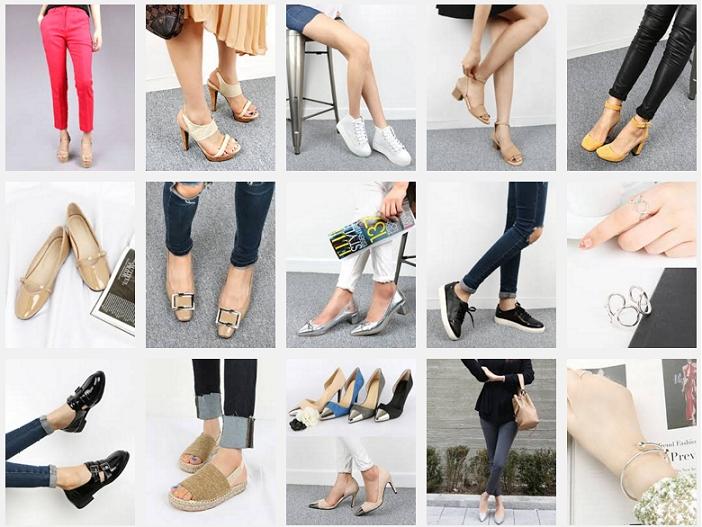 아미앤슈쇼핑몰 판매 신발제품들